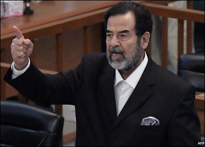 Saddam is sentenced to death by hanging