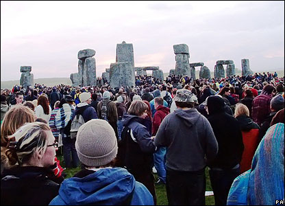 Around 20,000 people gathered at the ancient site of Stonehenge in Wiltshire to welcome the longest day of the year.