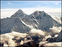 Mount Everest viewed from the south