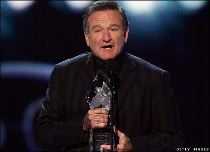 Comedian Robin Williams won funniest male star