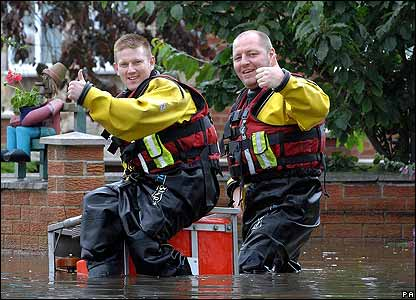 Firefighters in Yorkshire