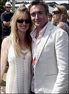 Richard Hammond with his wife, Mindy