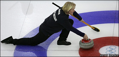 Rhona Martin of Great Britain's curling team