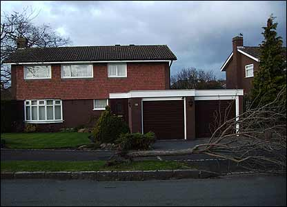 Rachel, 10, took this picture of a tree which has fallen outside a house belonging to her granny's friend. Rachel is from Chester and she took the snap