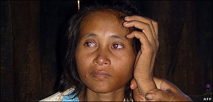 The woman who is believed to be Rochom P'ngieng