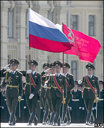 Russian soldiers in Red Square - archive image