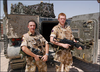 Soldiers on duty in Iraq