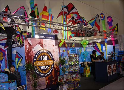 More than 200 toy companies gathered at the ExCel Centre in London to show off the hottest stuff for 2007 to people in the toy business - and Newsround! The place was packed with colourful stands.