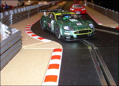 Check out this Hornby Scalextric. The cars are microchipped. You can race four at a time, change lanes and cut each other up. The computer tells you who's won.