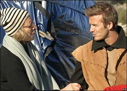 "Here is Becks talking to the famous celebrity photographer Annie Leibovitz. She said about Beckham: ""I think he would like to act... he was a great actor."""