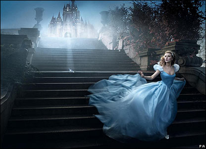 Scarlett Johansson also took part - she dressed up as Cinderella and wore a designer ball gown and a diamond tiara worth a whopping �165,000!