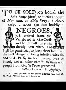 Advert for slaves