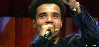 Competition judge Akala receives the award for Best Hip Hop at the MOBO Awards 2006