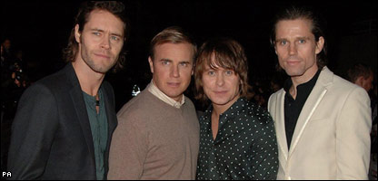 Howard Donald, Gary Barlow, Mark Owen and Jason Orange make up Take That