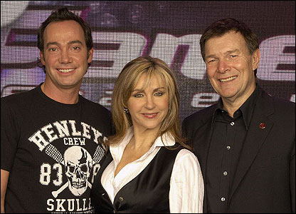 The panel who will judge the students: Headteacher Richard, opera singer Lesley Garrett and choreographer Craig Revel Horwood - from Strictly Come Dancing.