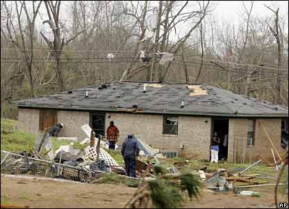 Damaged house in Enterprise, AL