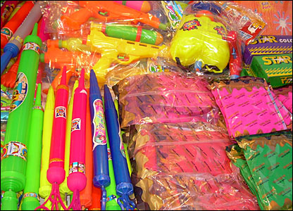 There are loads of different styles of water pistols for sale, from ones shaped like big plungers to hi-tech backpacks