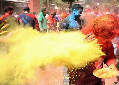 It's also known as the festival of colours as one of the main traditions involves everyone throwing coloured paints at each other.