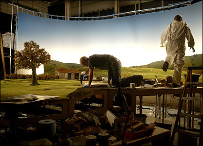 Making the backdrops for the Shaun the Sheep series