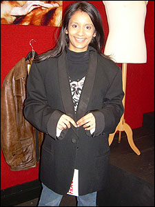This jacket has appeared in James Bond films - in fact it's one of the spy's most expensive coats. But it looks a bit big for Sonali!