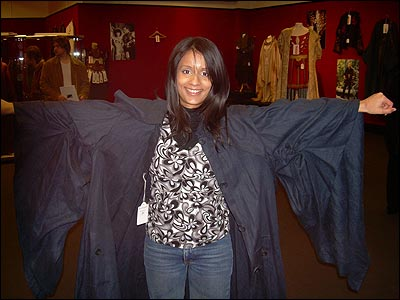 And here's Sonali again, this time in a Harry Potter costume. It was worn by the Quidditch teacher Madam Hooch in the films.