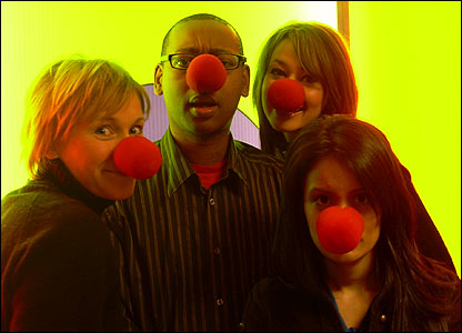 Newsround presenters get ready for Comic Relief