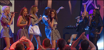 Girls Aloud and Sugababes perform for Comic Relief