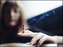 吸煙的女性