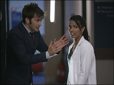Here's the Doctor and his new assistant Martha Jones. What could they be getting up to in the third series?