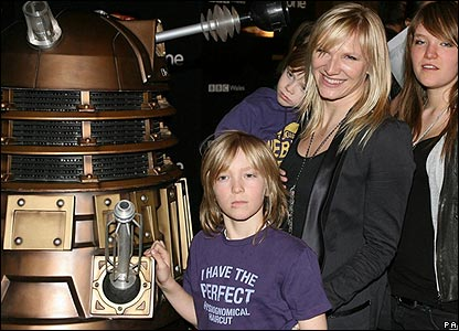 And here's DJ Jo Willey with hers - standing scarily close to a Dalek!