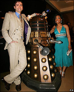 David Tennant and Freema Agyeman turned up to the special preview of the first episode of the third series! It's called Smith and Jones.