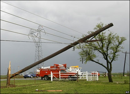 Damage caused by the tornadoes