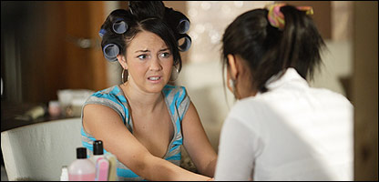 Lacey Turner as Stacey Slater at the beauticians in EastEnders