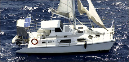 The yacht found floating around 160km east of Townsville, Australia