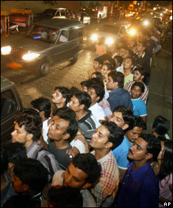 It was a small family affair, but loads of fans turned out at Abhishek's home in India's film capital, Mumbai, in the hope of watching some of the wedding.