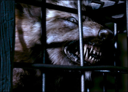 And look at these sharp teeth! The werewolf appeared in the episode called Tooth and Claw which featured Queen Victoria.