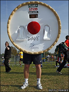 And this runner came dressed as a Bakewell tart!