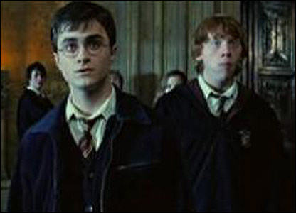 Dan Radcliffe returns to his role as the boy wizard, with Rupert Grint back playing his pal Ron.