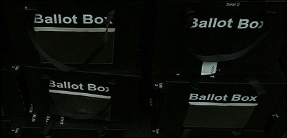 Boxes for vote papers