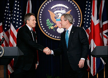 Mr Blair's decision to offer British military support to US President George Bush's invasion of Iraq in 2003 split his Government, his party and the country.