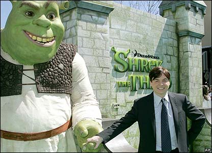 And Mike is the voice of the friendly green ogre Shrek!
