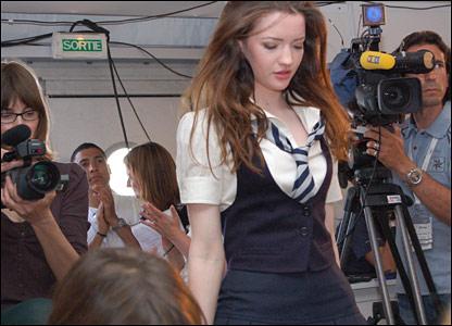 Talulah at the press conference