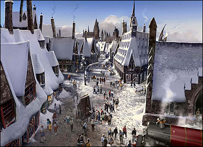 And how about a trip to Hogsmeade? The theme park - in Florida - will feature fun-packed rides and lots of chances to get involved in Harry's world.