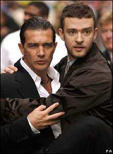 Antonio Banderas and Justin Timberlake