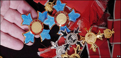 Birthday honours medals