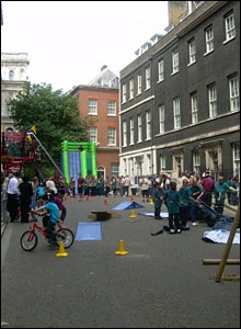 The adventure playground in Downing Street