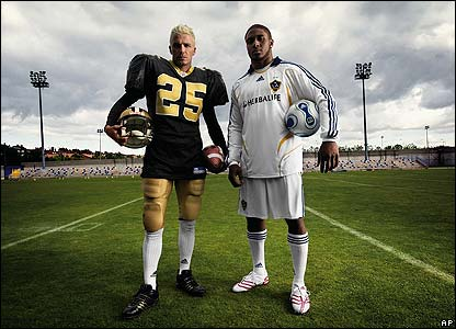 reggie bush football photos. David Beckham and Reggie Bush