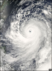 Satellite image of Typhoon Man-Yi