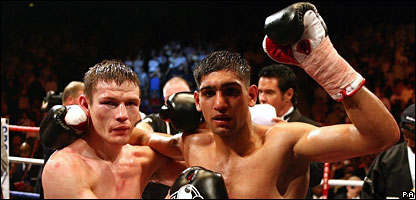 Willie Limond and Amir Khan