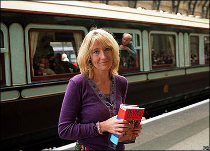 It was full steam ahead on the Hogwarts Express as the fourth instalment - Harry Potter and the Goblet Of Fire - steamed into bookshops in 2000. JK Rowling was an international superstar!